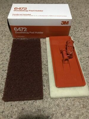 3M Doodlebug Pad Holder Kit With Pads 6472 (1) Kit, White & Brown Pad Included