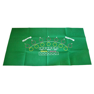 Casino Felt Layout Poker Table Top Cloth Green for Home Party Casino Games