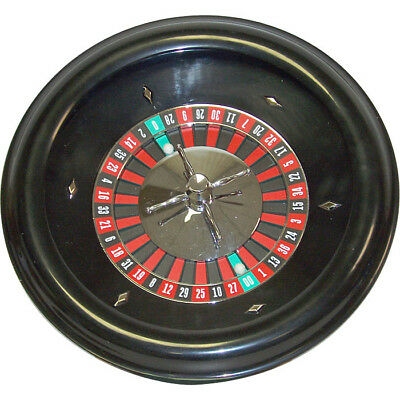 "18"" Pro Quality Roulette Wheel with 2 Balls, Steel Liner Bearing Spinner"