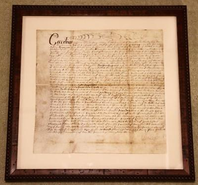 1668 Lord Baltimore Signed Document Charles Calvert Colonial Maryland Vellum