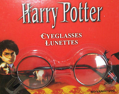 Harry Potter Round Black Frame Glasses Kids Cosplay Costume Book Week