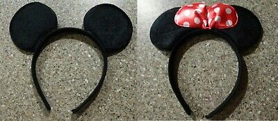 Mickey Mouse Or Minnie Mouse Ears Headband Costume Fancy Dress