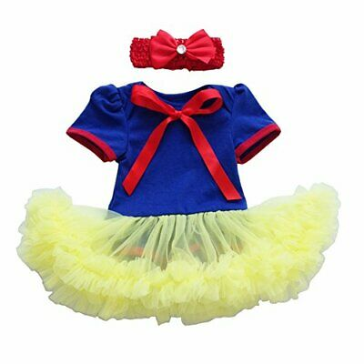 NEW BABY GIRL SNOW WHITE ROMPER COSTUME with free headband - 6-18 months