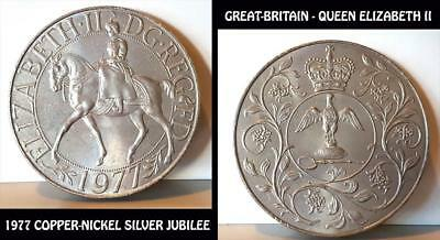 1977 Great Britain Copper-Nickel Silver Jubilee Queen Elizabeth Ii Crown