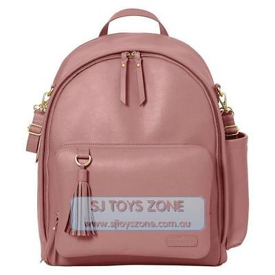 Skip Hop Greenwich Chic Backpack Baby Diaper Bag With Changing Pad Dusty Rose