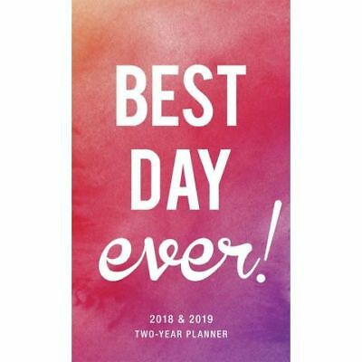 Best Day Ever 2018 Two-Year Pocket Planner by Graphique , NEW, Free Post