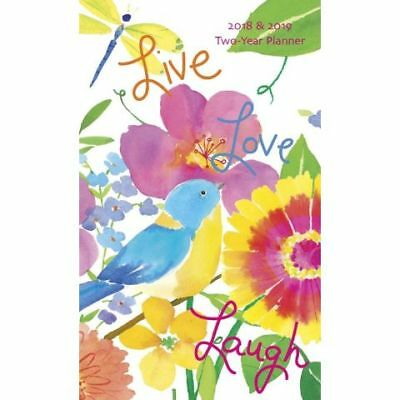 Live Love Laugh 2018 Two-Year Pocket Planner by Graphique , NEW, Free Post