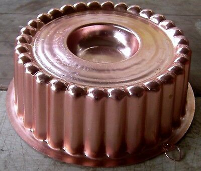 vintage 1960's anodised aluminium cake jelly pate mould with kitchen wall hook