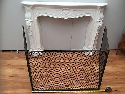 Vintage Metal Fire Screen Surround Place Heater House Lounge Child Safety qzzq