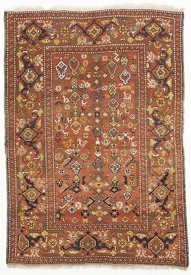 "Antique Turkish rug. 4'2""x 5'7"""