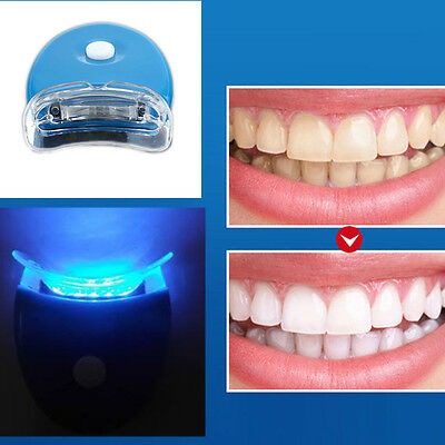Mini Cool LED Luz Blanca BLANQUEAMIENTO DENTAL SYSTEM Kit Dientes Limpiador