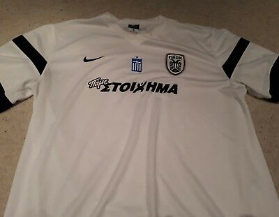 PAOK Salonika Away Football Shirt by Nike - Size XL - Excellent Condition