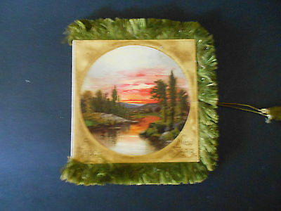 VICTORIAN SILK FRINGE HAPPY NEW YEAR CARD FOUR SIDED WITH TASSELS C1890s