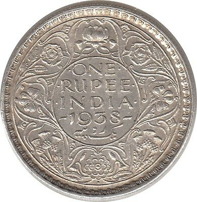 Rare High Grade India ~ Kgvi ~ 1938 1 Rupee Silver Coin Km 555