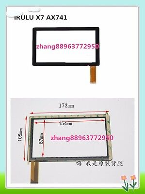 Touch Screen Digitizer Replacement For iRULU X7 AX741 Tablet PC zhang88