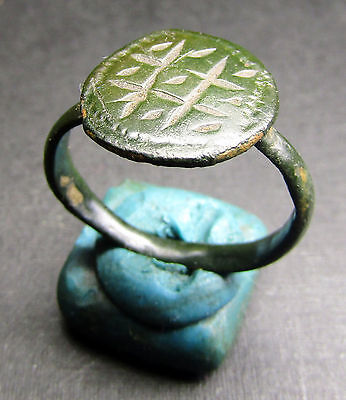 Ancient Bronze Ring. Beautiful Patina! (88).