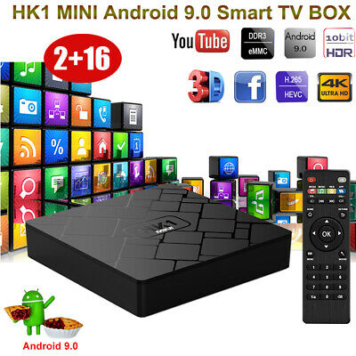 2+16G Quad Core Android 8.1.0 Oreo Smart TV BOX 4K Streaming Player 3D Sports UK