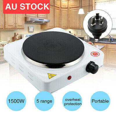 Portable Single Electric Hot Plate Outdoor Hotplate Cooktop Stove/Caravan Cooker