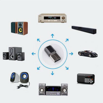Mini Bluetooth 3.5mm AUX Audio Stereo Music Home Car Receiver Adapter USB Dongle