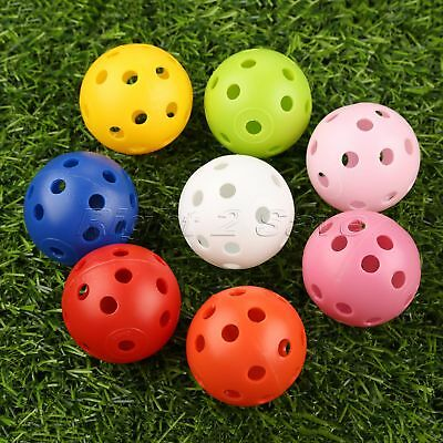 Hollow Perforated Design Plastic Practice Tennis Golf Balls Dia 41mm /1.61 inch