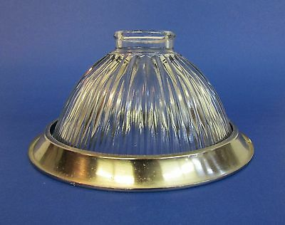* Contemporary * Crystal Clear * Drop Light Ceiling Shade * With Steel Ring *