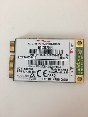 Sierra Wireless MC8755 WWAN Cellular Card Mini PCIe 42T0835 UMTS HSDPA G3