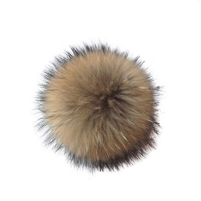 New Women Faux Fur Pom Ball 10cm PomPom For Hat Clothing Decor With Press Button