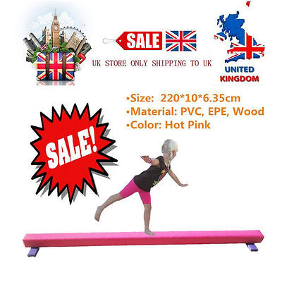 New 7.2 ft Gymnastics Folding Balance Beam 2.2M Home Gym Training Sports UK *HOT