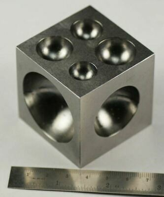 "50mm Solid Steel Doming Dapping Block 2""  jewellery craft making jewellers"