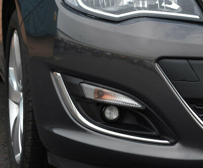 To Fit Vauxhall Astra J 12+ Chrome Fog Light Lamp Trim Accents Surrounds Covers