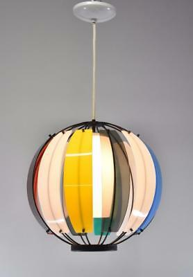 Mid Century Modern Round Sphere Multi Colored Chandelier