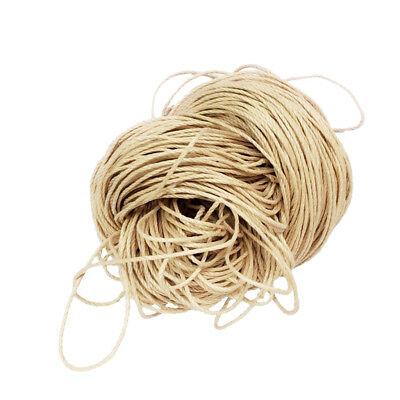 80m Waxed Cotton Cord Bundle 1.5mm for Jewelry Making String Thread Beige