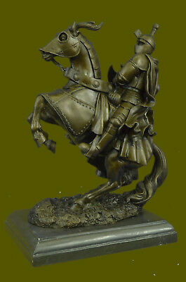 Medieval Armored Knight & Horse With Jousting Lance Statue Sculpture Figure Sale