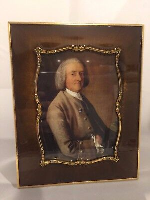 """NWOB Jay Strongwater Brown Gold Jeweled Enamel Easel Frame 4"""" x 6"""" SPF 5566"""