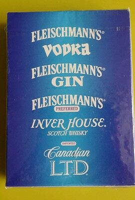 FLEISCHMANN'S VODKA GIN  PREFFERED INVER HOUSE Sealed Playing Cards
