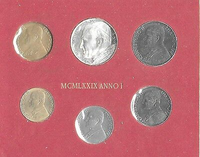 Vatican City 1979 Mint Set(6 Coins) KM-MS84 In Original Folder Choice-Gem BU