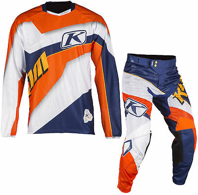 Klim Orange/Blue/White Mens XC Lite Dirt Bike Jersey & XC Lite Pants MX ATV 2018