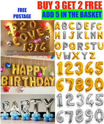 Self Inflating Happy Birthday Party Banner Balloon Bunting Letter & Number HOT