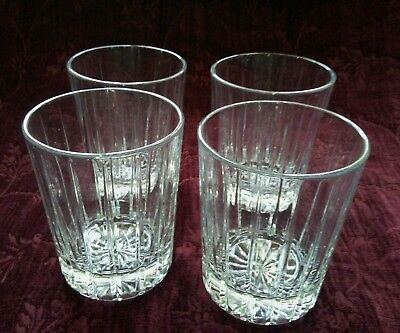 Cristal D'Arques Durand STANFORD Double Old Fashion Glasses-Set/4-FREE U.S. SHIP