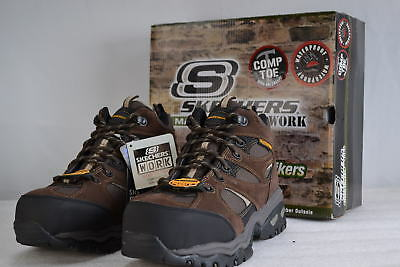 Men's  Skechers 46987/BRN Energy Clan Work Boot With Composition Toe Brown