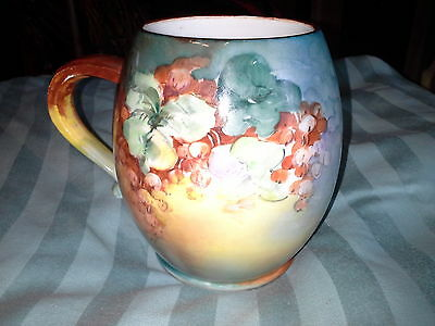 Antique Large Hand painted Mug Signed made in France