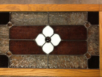 Wooden Framed Leaded Stained Glass