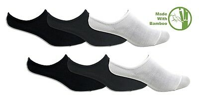 6 Pairs Bamboo Fabric Breathable No Show Socks Low Cut