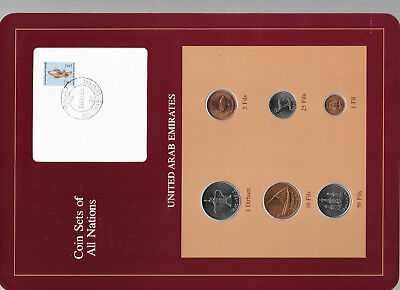 Coin Sets of All Nations UAE United Arab Emirates UNC 1973-1989 10,50 Fils 1989