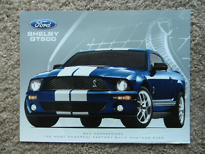 NEW 2007 Ford Mustang Shelby GT500 Fact Sales Sheet Brochure + Specs