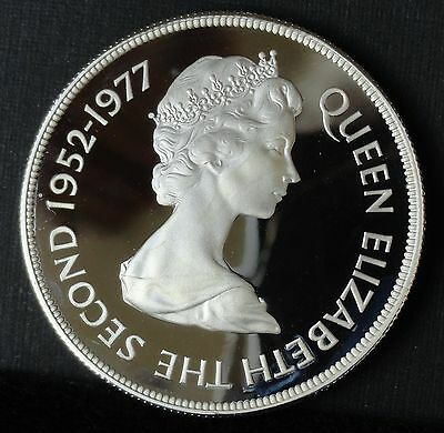 Gibralter 1977 25 Pence Proof  Silver