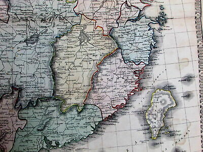 China Taiwan Hong Kong Hainan Formosa Shanghai Peking c.1855 rare large old map