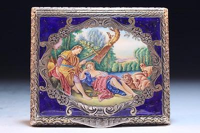 19th C. Silver-Enameled Compact,
