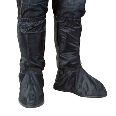 Oxford Rainseal Waterproof Motorcycle Overboots Rain Wear Over Boots - Black