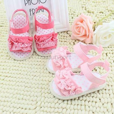 Princess Baby Girl Soft Sole Crib Shoes Infant Toddler Summer Sandals Shoes 0-18